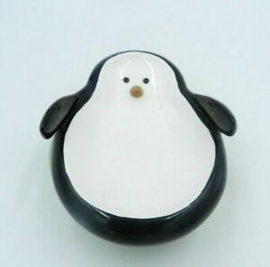 Vintage-Penguin-Soap-Dish-Target-2007-Twirls-Swivel-Ceramic-Polka-Dot-Base