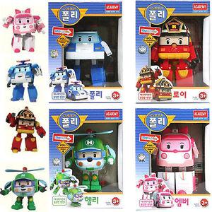 Robocar poli helly amber roy transforming robot set korean animation kid toy ebay - Robocar poli ambre ...