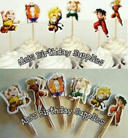 (24) Pc Dragon Ball Birthday Cupcake Toppers Cake Party Birthday Supplies