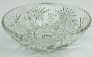 Anchor Hocking Glass EAPC Early American Prescut Star of David Large Bowl Vntg