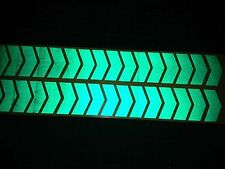 48 INCH 1.2m LONG REFLECTIVE CHEVRON STICKERS / DECALS 60mm HIGH GN