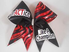 prACTice Like a Champion Cheer Bow by BlingItOnCheerBowz