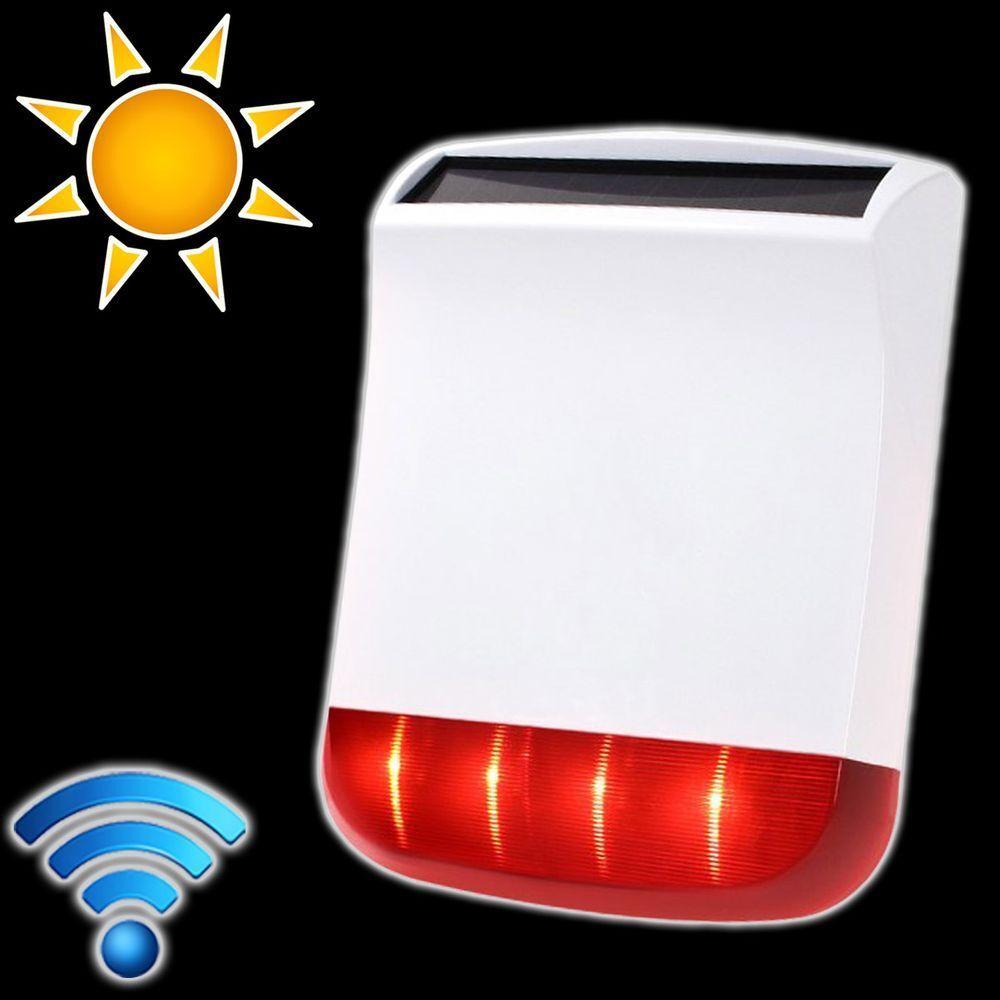 PENTATECH Funk Solar Sirene 3000AS mit Blitzlicht 100 dB drahtlose Aussensirene