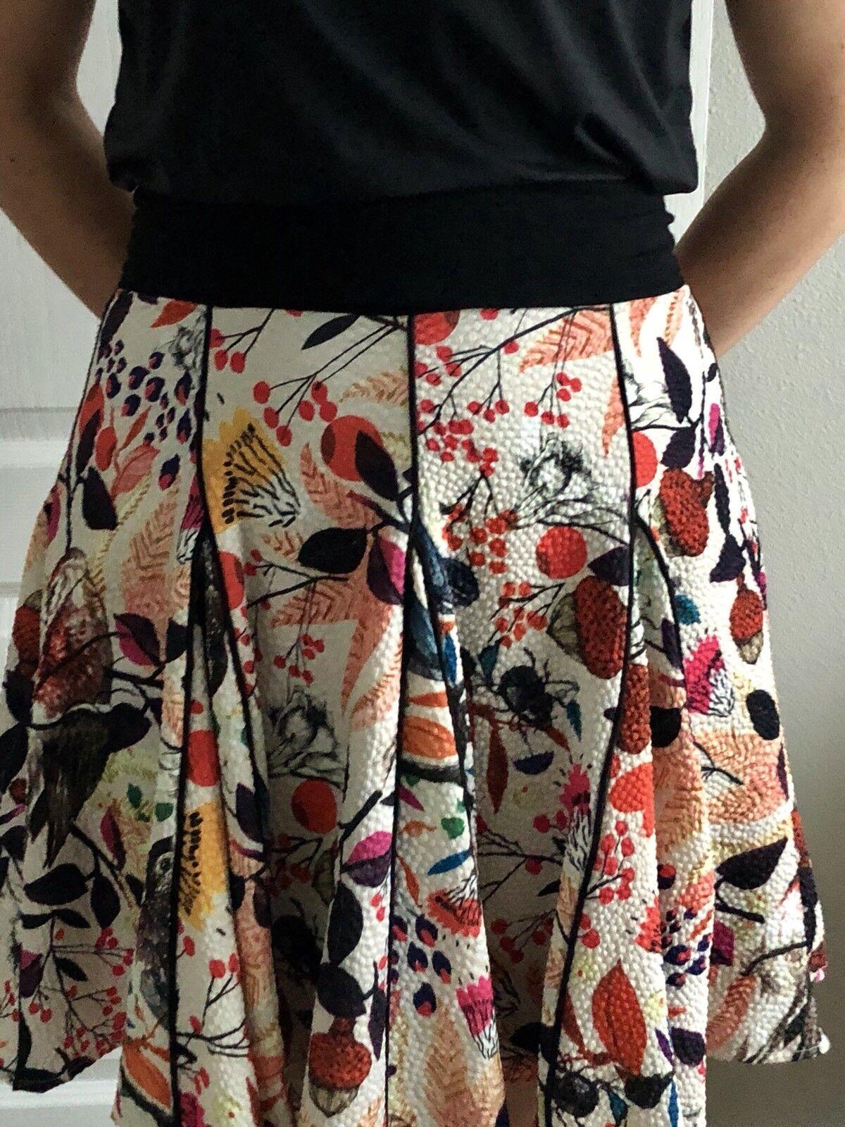 Anthropologie Eva Franco Songbird Swing Floral Skirt Size 0 (also fits sz. 2)