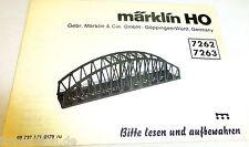 Märklin Instrucciones 7262 7263 Manual de instrucciones 68 732 LN 0179 ru å