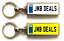 miniature 5 - Personalised Metal Double Sided Registration Number Plate Keyring Any Name /Text