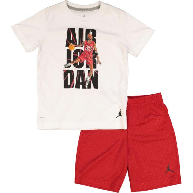 639980641572 Nike Air Jordan Jumpman Boy s 2-piece Shirt and Short Set 6 Years 110-116cm  for sale online