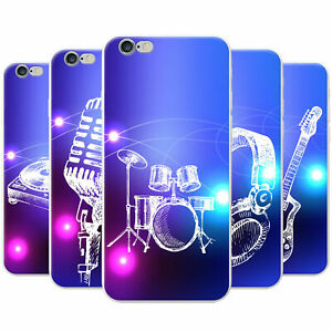 Funky-Hand-Drawn-Music-Elements-Snap-on-Hard-Case-Phone-Cover-for-Apple-Phones
