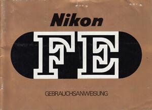 Intelligente Nikon Manuel D'utilisation Fe-instructions-itung Für Fe - Anleitung Fr-fr Afficher Le Titre D'origine