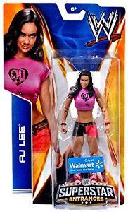d7056dd5 WWE AJ LEE SUPERSTAR ENTRANCES TSHIRT FIGURE WALMART EXCLUSIVE DIVA ...