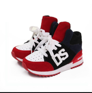 Spring Autumn Sports Shoes Children For Boys Girls Lace-up Anti-slip Sneakers DS