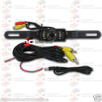 Cmos Car License Plate Rear View Back Up Camera W/ Night Vision