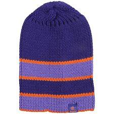 Bergans of Norway - O/S - Purple Striped Wool Blend Logo Bris Ski Beanie Hat