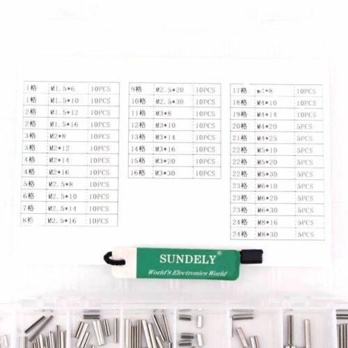 280Pcs Split Spring Dowel Tension Roll Pin Metal Hardware Assortment Kit New