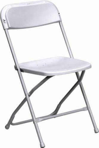 White Plastic Folding Chairs.50 Plastic Folding Chairs Commercial White Stackable Wedding Party Event