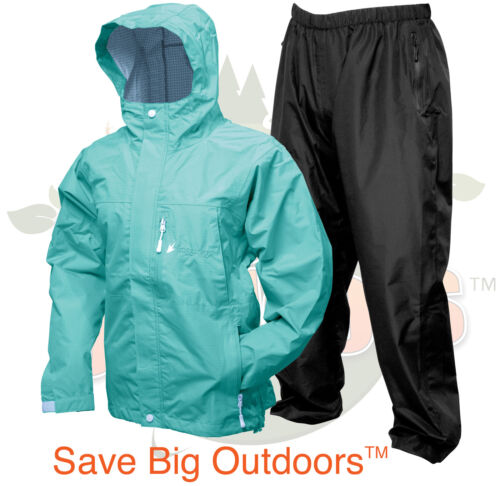 S SM Frogg Toggs Women/'s Seafoam Java Toadz Toads 2.5 Rain Suit Jacket /& Pants