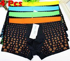Men's Underwear Boxer Briefs Cotton Bulge Pouch Trunks Shorts Underpants Pants