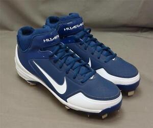 Men Nike Air Huarache Lightweight Performance Blue White Baseball Cleats 10M NEW