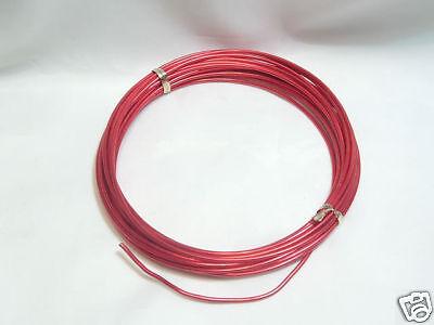 01 Red 1 x 12m Reel Anodised Aluminium Craft Wire
