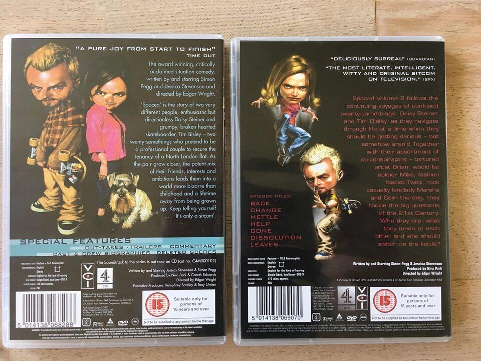 SPACED - hele serien, DVD, komedie