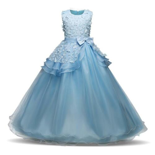 New Fashionable Bridesmaid Gown Wedding Princess Girls Dress Party Kids Clothes