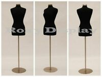 Size 6-8 Female Mannequin Manikin Dress Form JF-FWP-BK + BS-04