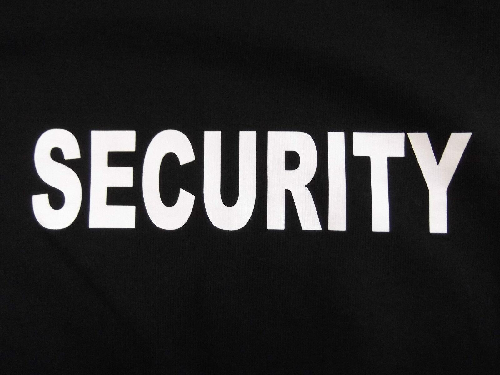 Übergrößen SECURITY Sweatshirt Gr. XXXXXL/5XL  Sicherheitsdienst Wachschutz