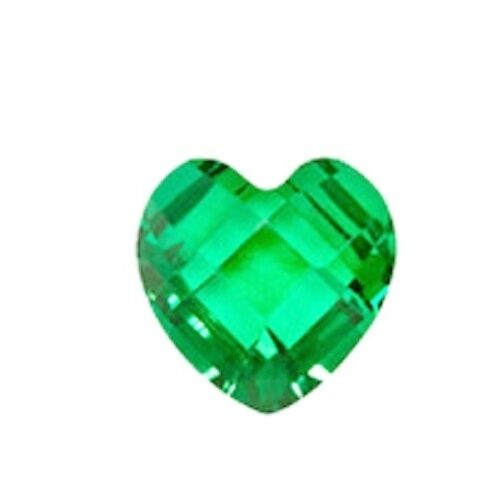 MAY Birthstone Crystal Heart 5mm Floating Charm for Living Locket Emera!d Green