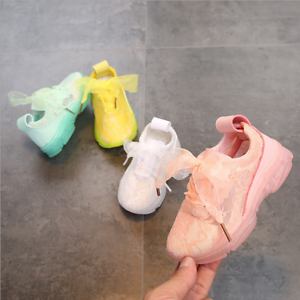 LE Lace Sneakers Light Lace-Up Kids New Breathable Children Kids Girls Shoes