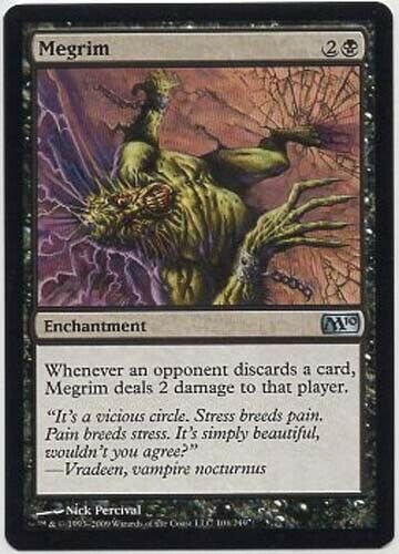 6 AVAILABLE! MEGRIM  X1  MAGIC Mtg  M10 CORE SET  NEAR MINT or BETTER! NMoB