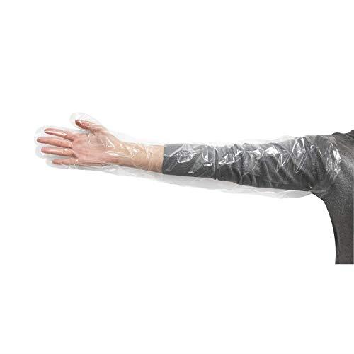Food service shoulder link latex gloves