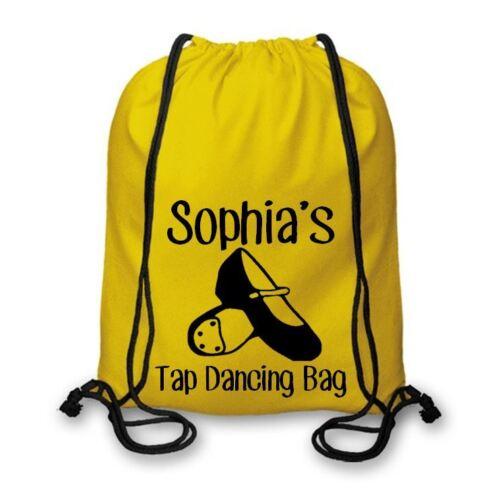 Personalised Cotton Named Tap Dancing Drawstring Bag Tap Club Kit Bag CSB117