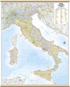 Italia-Cartina-Murale-Amministrativa-97x122-Cm-Carta-Mappa-Poster-Belletti