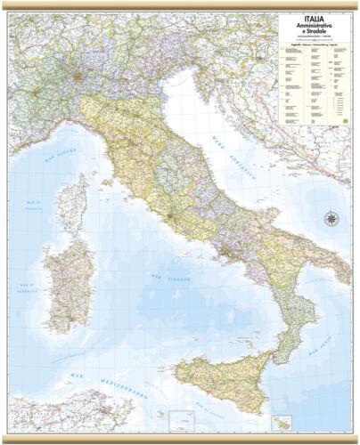 ITALIA CARTINA MURALE AMMINISTRATIVA [97X122 CM] [CARTA/MAPPA/POSTER] BELLETTI