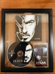 George-Michael-SIGNED-CD-FRAMED-w-25-Live-Pass-Clair-Marlo-OPM-Vinyl-LP