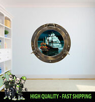 PIRATE SHIP PORTHOLE WALL ART VINYL DECOR PRINT DECAL STICKER