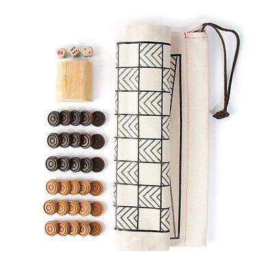 A Winter Shop: THE ORIGINAL CANVAS DOUBLE-SIDED GAME-BAG SET Backgammon/Checker