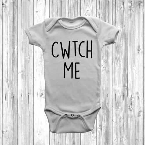 Cwtch Me Baby Grow Vest Body court à manches longues Cadeau Douche Welsh