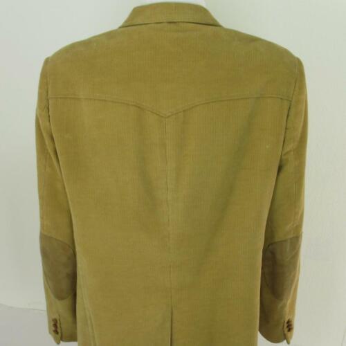 44 R Wrangler Western Beige Corduroy Leather 2 Btn