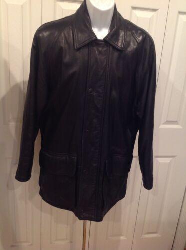 Coach Mens Elegant Black Soft Leather Jacket Size