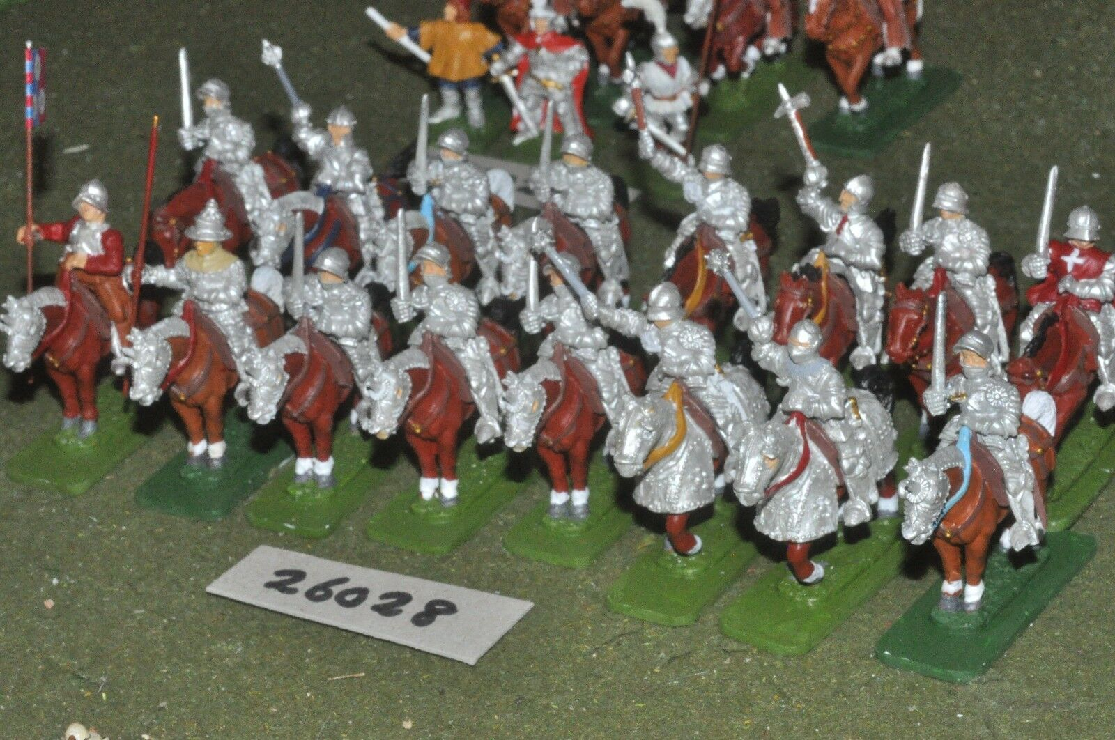 25mm medieval   english - men at arms 16 figures - cav (26028)