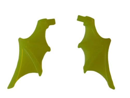 Lego 2 Stück Flügel transparent neon grün 15082 Fledermaus Fledermausflügel Neu
