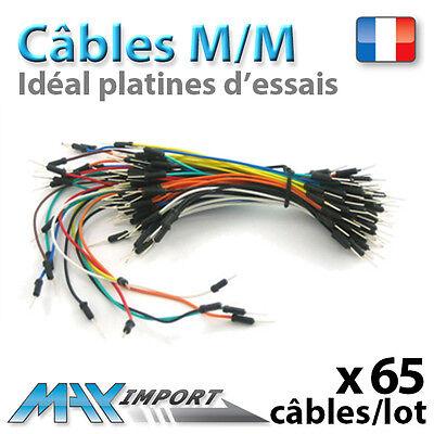 Lot de 65 câbles mâles pour platine d/'essai Jumperwire, Breadboard M//M
