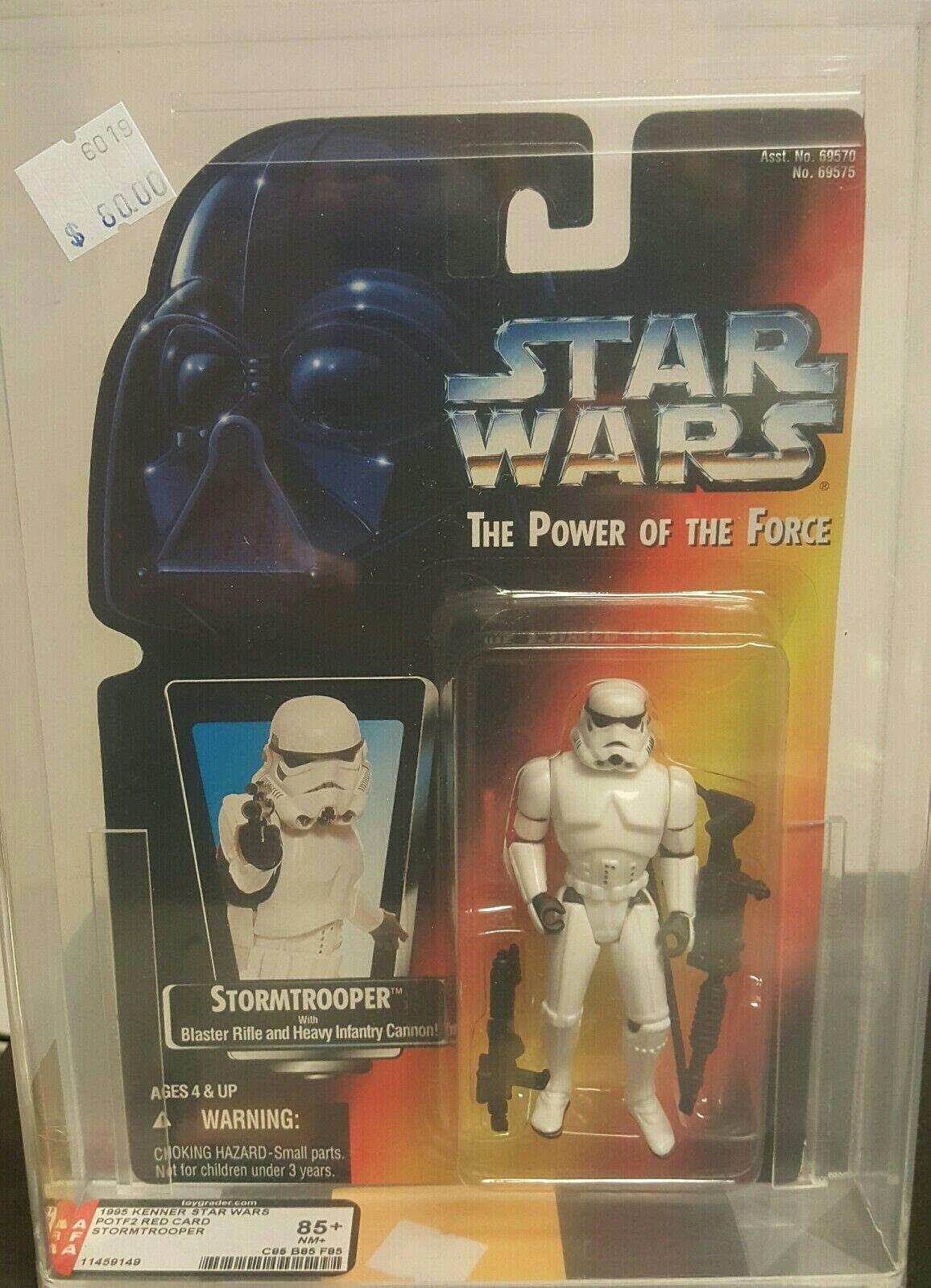1996 Figura De Estrella Wars autoridad calificado Poder de la fuerza 2 Stormtrooper 85NM+