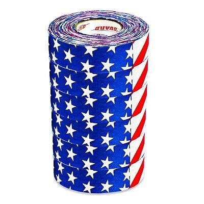 "Proguard Ice Hockey 130FL US FLAG Ice Hockey Tape 6 Pack 1/""X20 yds"