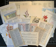 Vintage Book Pages for Junk Journals & Vintage Inspired Art