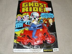 VINTAGE GHOST RIDER MOTORCYCLE FLEETWOOD TOYS RAREST VERSION BRAND NEW MOC 1978