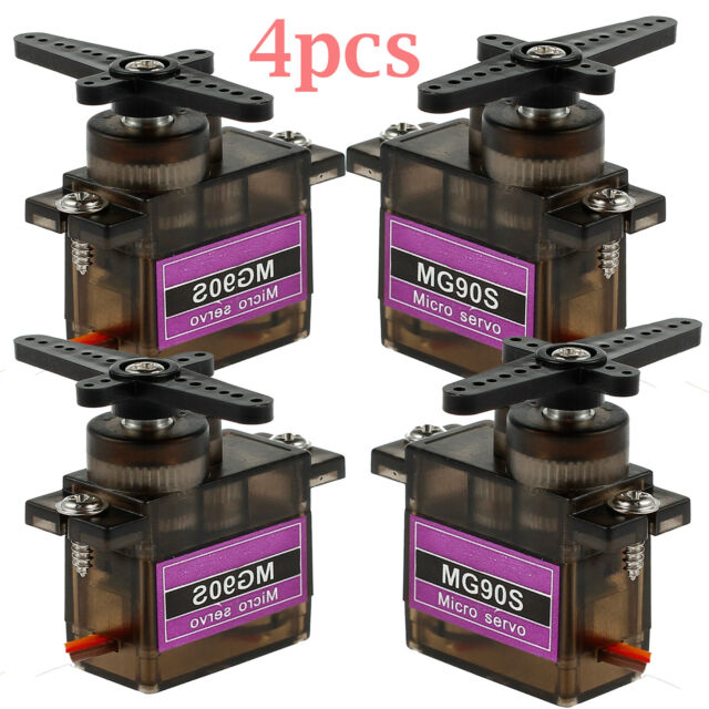 4X MG90S Metal Gear Servo Micro Servo For RC JR Helicopter Airplane Boat AU