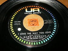 MARV JOHNSON - I LOVE THE WAY YOU LOVE - LET ME - LISTEN - SOUL RNB POPCORN