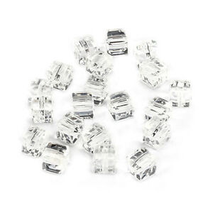 10pcs-clear-8mm-Faceted-Square-Cube-Cut-glass-crystal-Spacer-beads